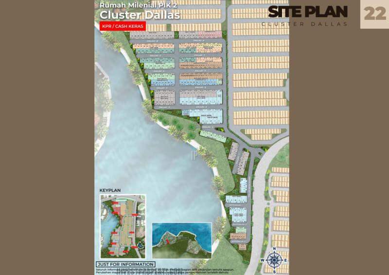 Siteplan Cluster Dallas PIK2
