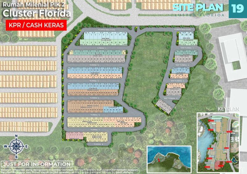Siteplan Cluster Florida PIK2