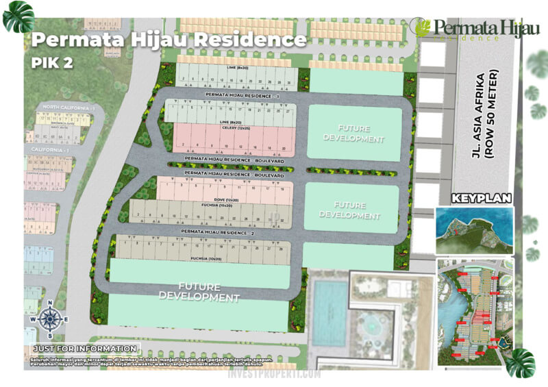 Siteplan Cluster Permata Hijau Residence PIK 2