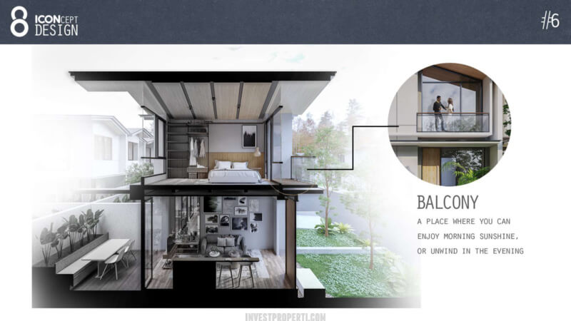 Cendana Icon House Design - Balcony