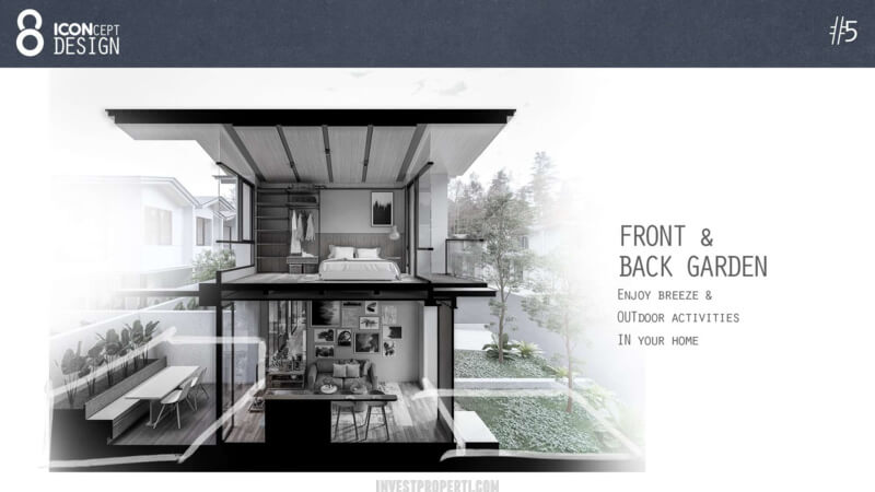 Cendana Icon House Design - House Garden