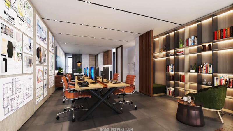 Desain Ruko Icon Plaza Lippo Karawaci Workspace Lantai 2