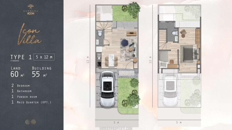 Denah Lantai Rumah Cendana Icon Tipe Icon Villa