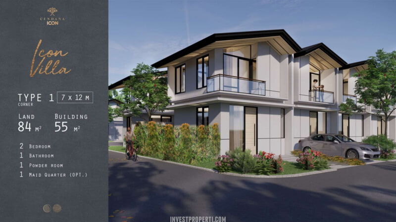 Rumah Cendana Icon Tipe Icon Villa Sudut
