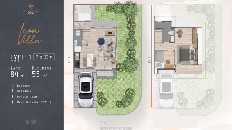 Denah Rumah Cendana Icon Tipe Icon Villa Sudut