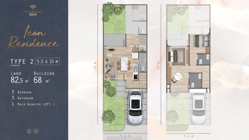 Denah Rumah Cendana Icon Tipe Icon Residence