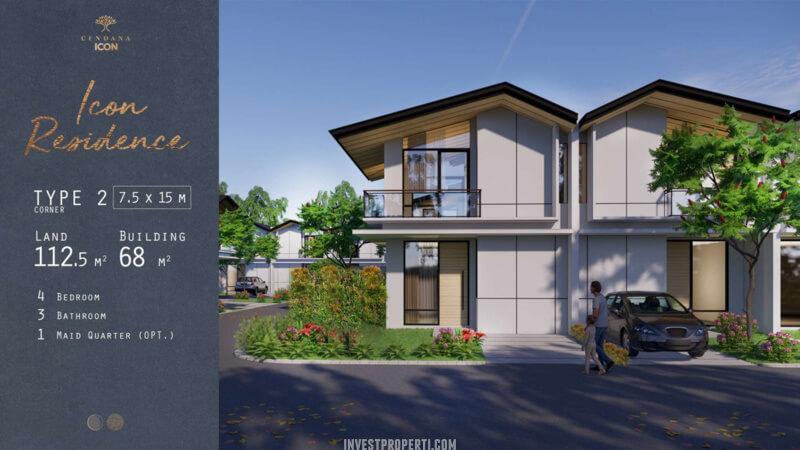 Rumah Cendana Icon Tipe Icon Residence Sudut