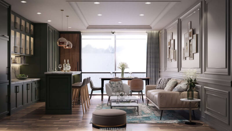 Interior Rumah Cendana Icon Tipe Icon Cottage - Living Room