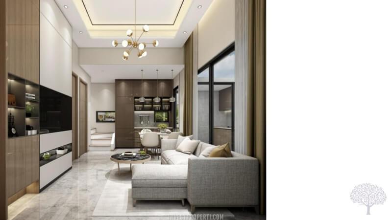 Interior Rumah The Terrace Shila Sawangan - Living Room