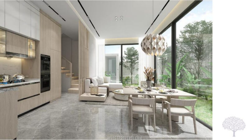 Interior Rumah The Courtyard Shila Sawangan - Living Room
