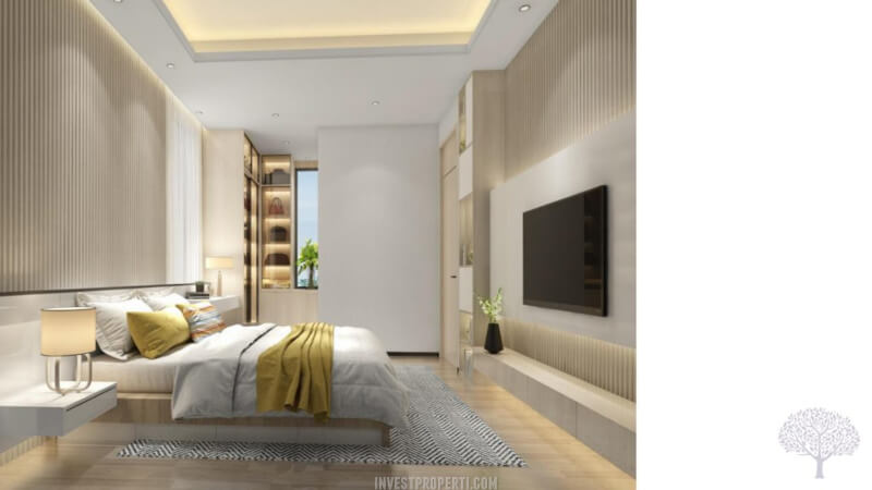 Interior Rumah The Courtyard Shila Sawangan - Master Bedroom