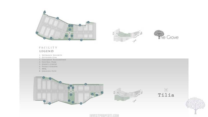 Siteplan Cluster The Tilia Shila Sawangan