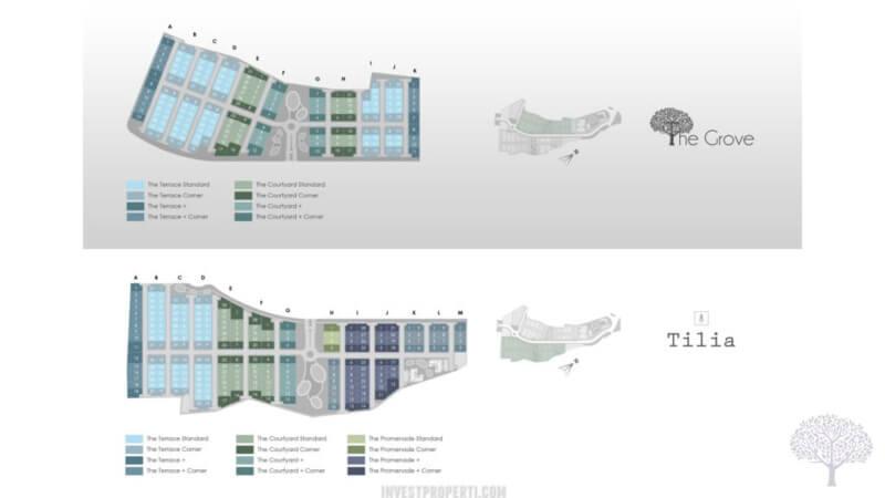 Siteplan Cluster The Grove Shila Sawangan