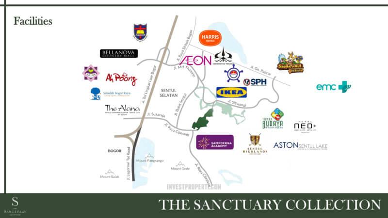 Fasilitas Sekitar Sanctuary Collection Sentul