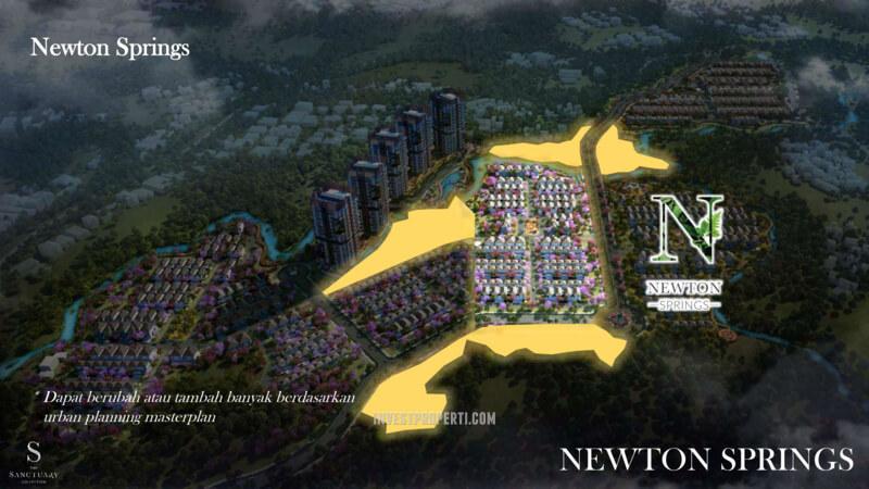 Lokasi Cluster Newton Springs Sentul