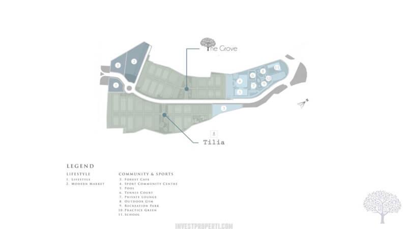 Lokasi Cluster The Grove & Tilia