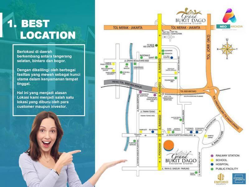 Lokasi Grand Bukit Dago Bogor