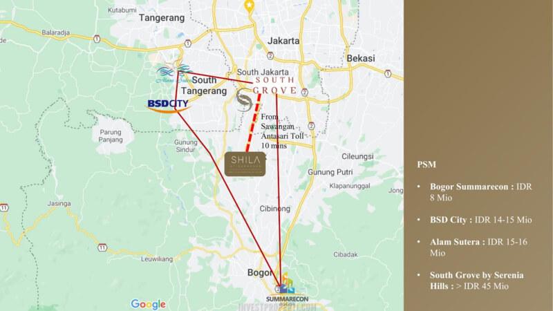 Lokasi Shila Sawangan Depok