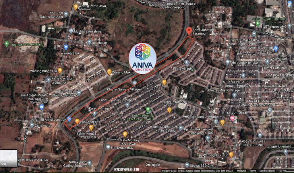 Peta Lokasi Aniva Junction Paramount Serpong