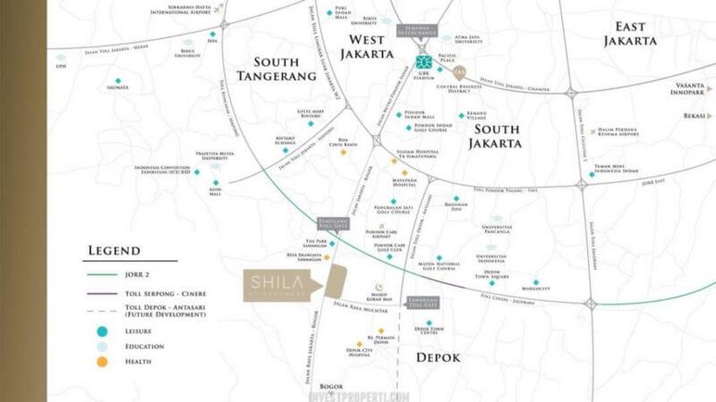 Peta Lokasi Plan Shila Sawangan
