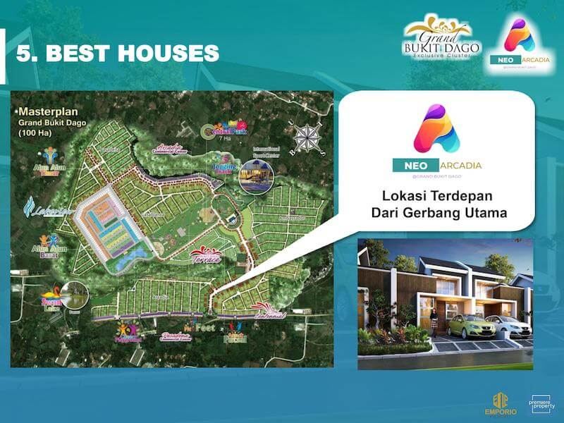 Posisi Cluster Grand Bukit Dago Bogor
