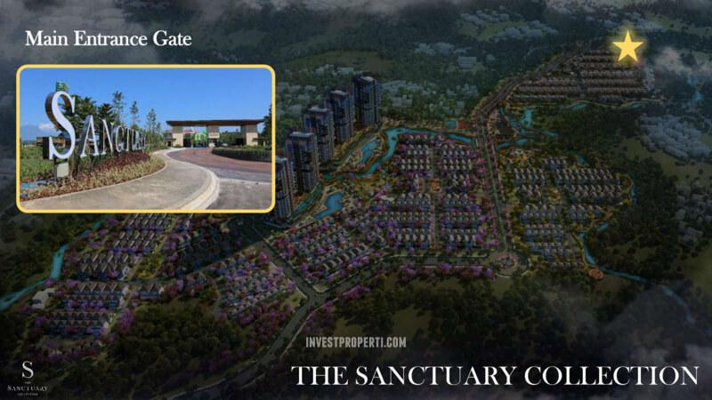Posisi Gerbang Sanctuary Collection Sentul Selatan
