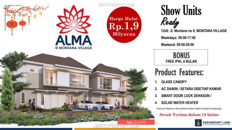 Promo Rumah Alma Montana Village 2021