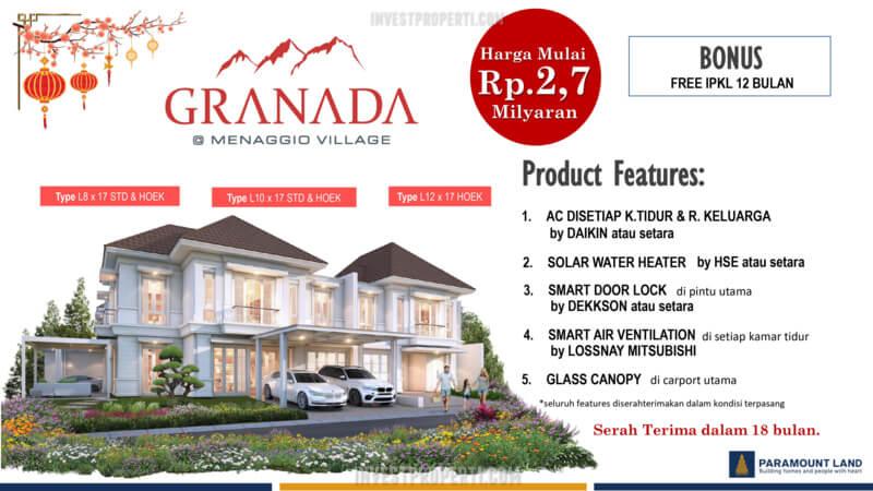 Promo Rumah Granada Menaggio Village 2021