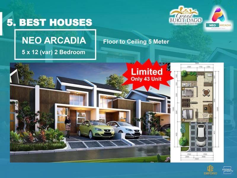 Rumah Cluster Neo Arcadia Grand Bukit Dago Bogor