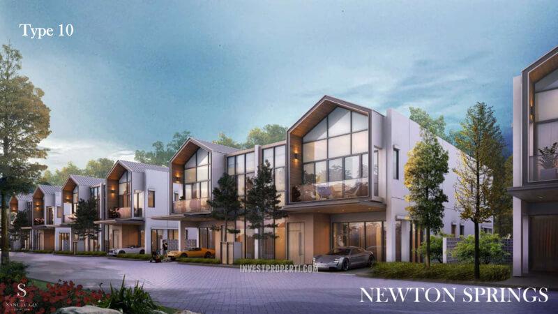 Rumah Newton Springs Sentul Selatan Tipe 10
