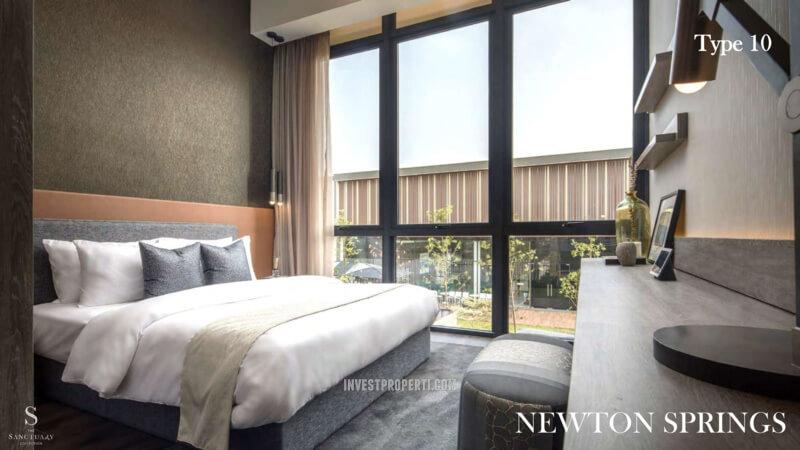 Show Unit Rumah Newton Springs Sentul Selatan Tipe 10 - Bedroom