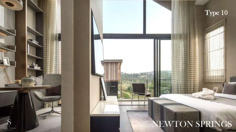 Show Unit Rumah Newton Springs Sentul Selatan Tipe 10 - Master Bedroom