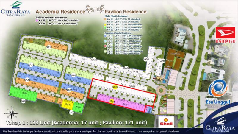 Siteplan Academia Pavilion CitraRaya