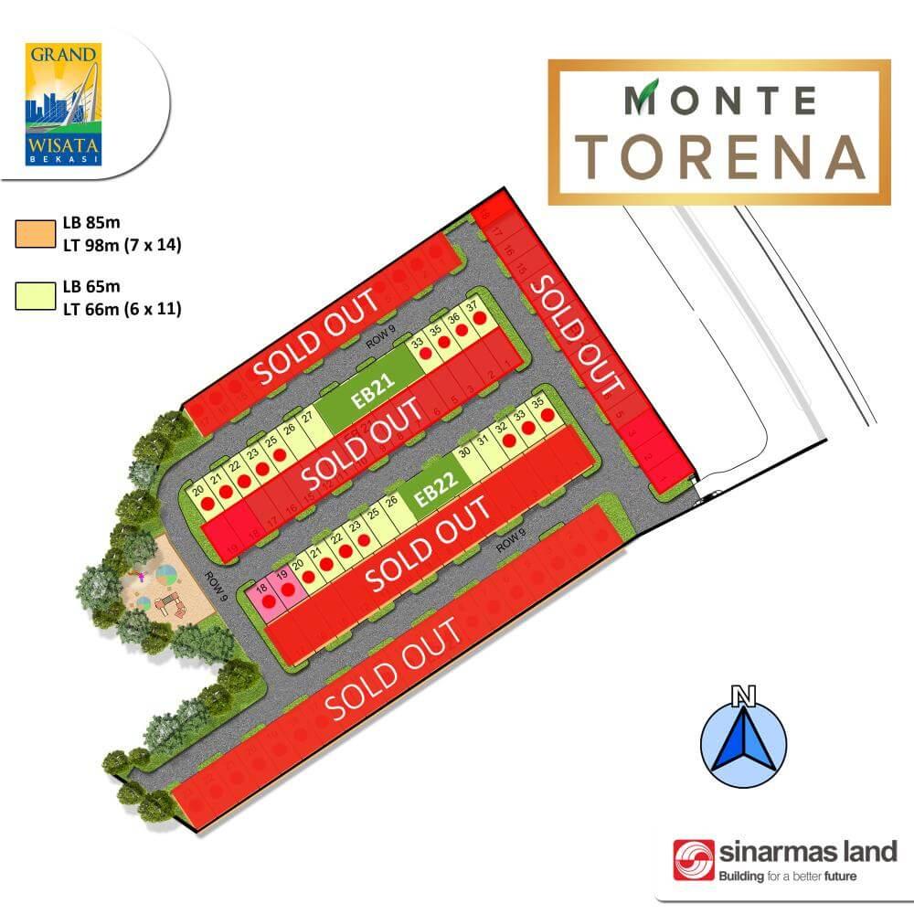 Siteplan Cluster Monte Torena Grand Wisata Bekasi