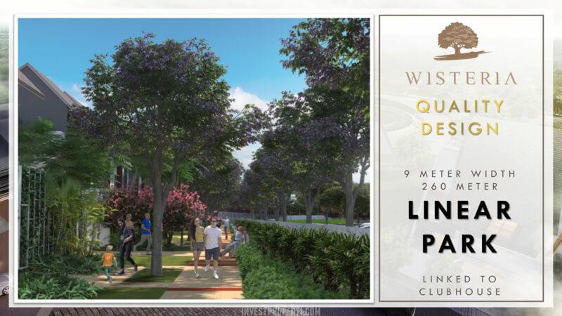 Wisteria Metland Menteng Cakung - Linear Park