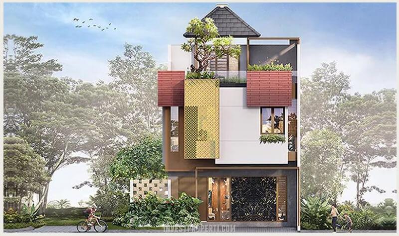 Fasad Rumah Puri 11 Heritage Residence Tipe 7 Standard