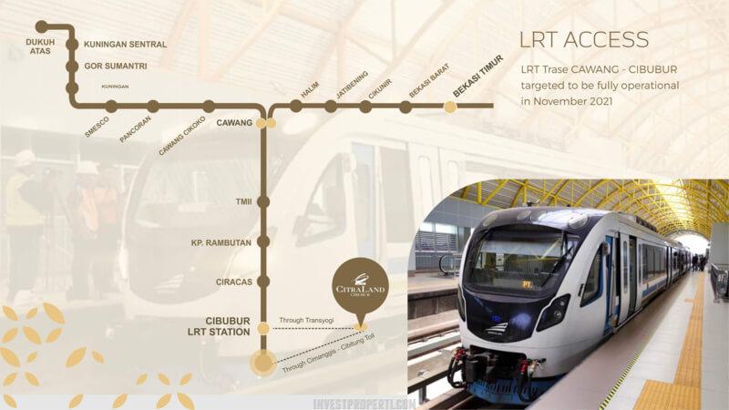 Jalur LRT menuju Citraland Cibubur