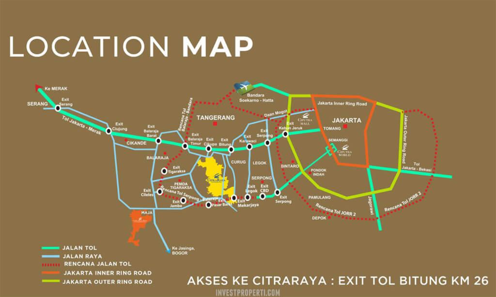 Peta Lokasi CitraRaya Tangerang