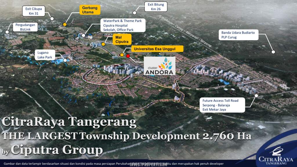 Peta Lokasi Cluster Andora CitraRaya Tangerang