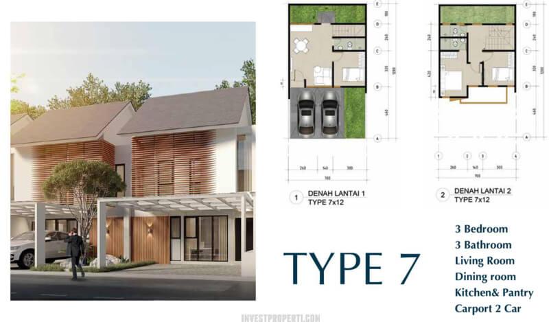 Rumah Northbend Metland City Tipe 7