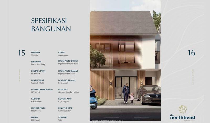 Spesifikasi Rumah Northbend Metland City