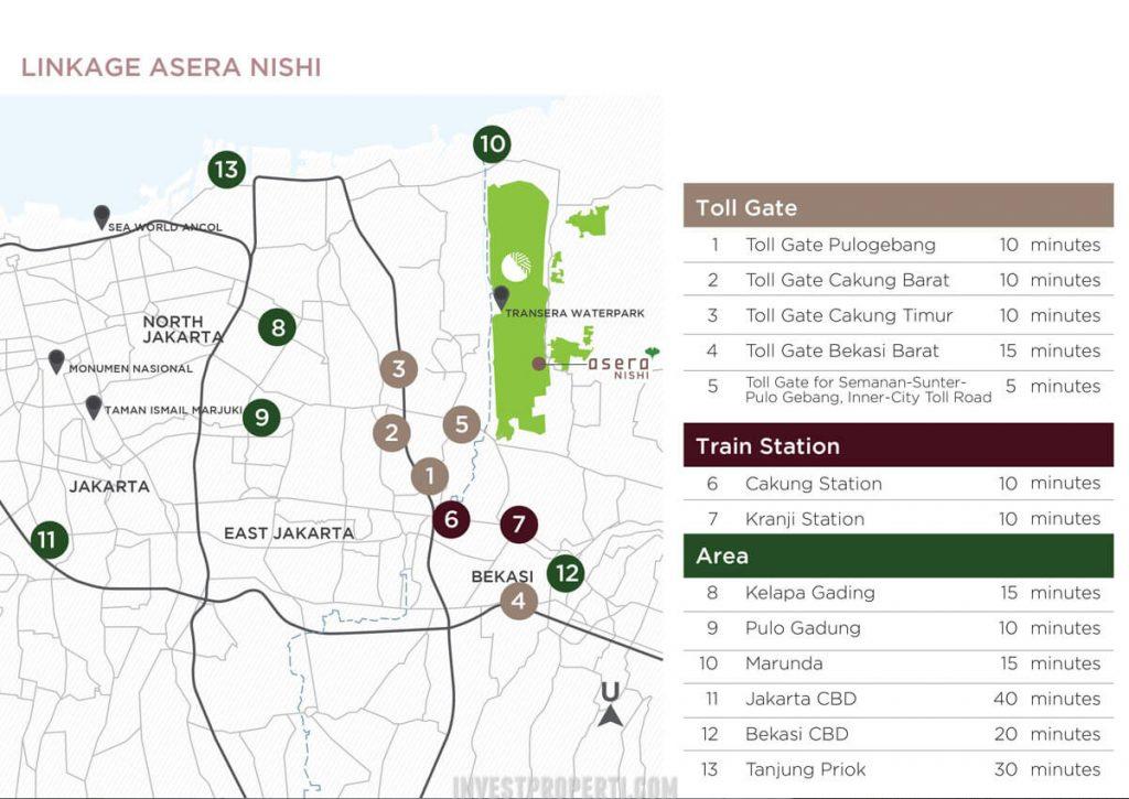 Akses Transportasi Cluster Asera Nishi KHI Bekasi