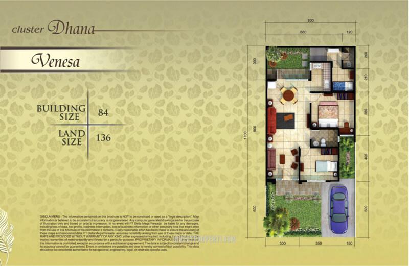 Denah Rumah Venesa Suvara Sutera - Cluster Dhana