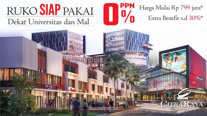 Dijual Ruko Citra Raya Tangerang PPN 0%