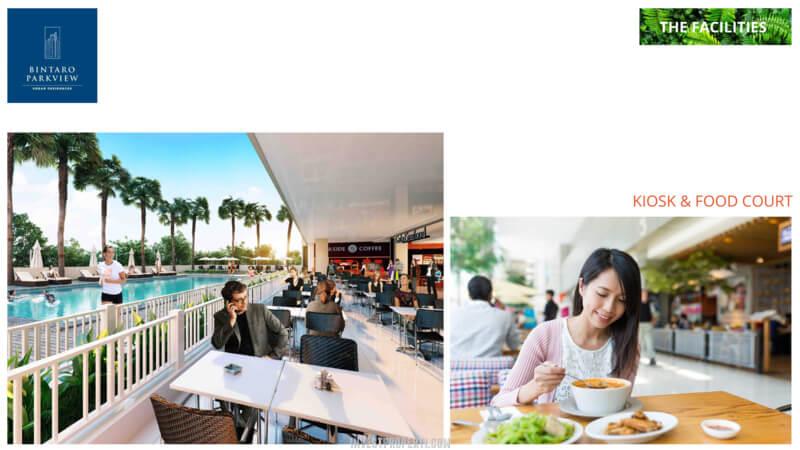 Fasilitas Bintaro Park View - Kios & Food Court