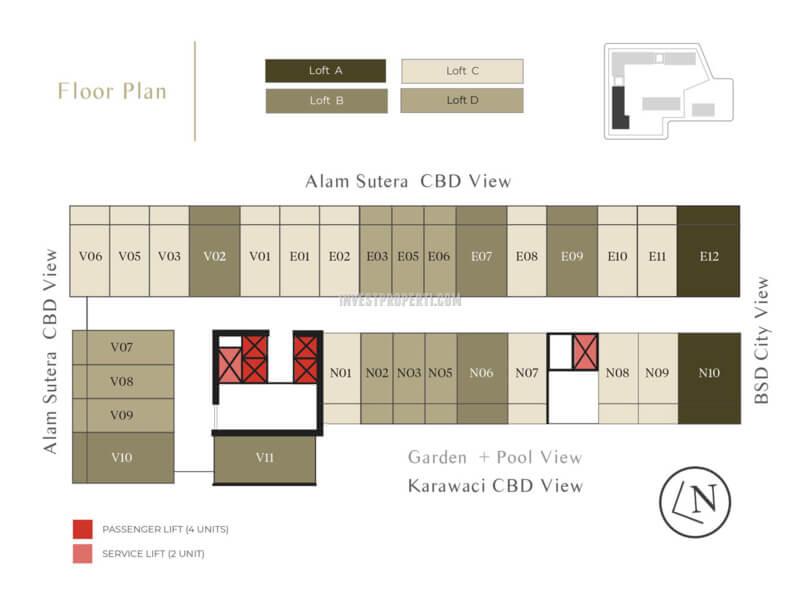Floor Plan Apartemen Venetian
