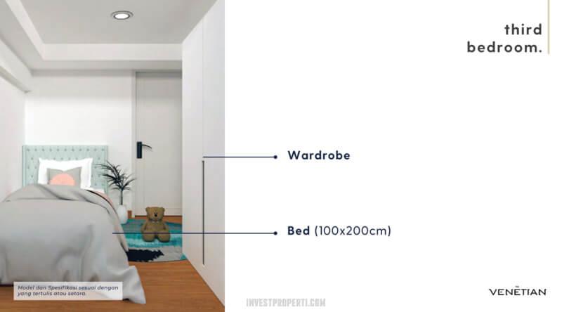 Furniture 3nd Bedroom Apartemen Venetian Serpong Tipe Loft A-B