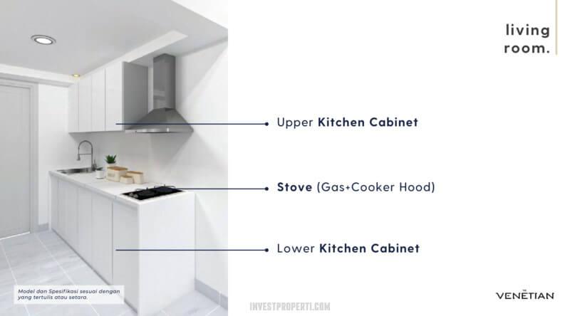 Furniture Kitchen Apartemen Venetian Serpong Tipe Loft A-B