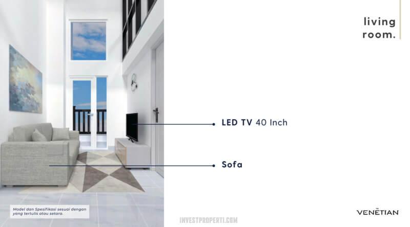 Furniture Living Room Apartemen Venetian Serpong Tipe Loft A-B