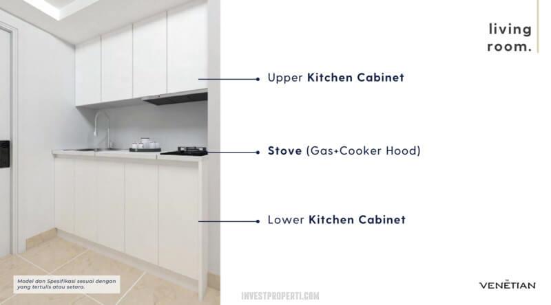 Furniture Kitchen Apartemen Venetian Serpong Tipe Loft C-D